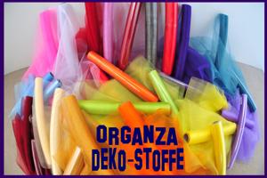 Organza Deko-Stoffe