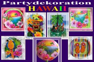 Hawaii-Party, Partydekoration