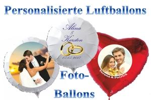 Personalisierte Luftballons aus Folie zur Hochzeit und Fotoballons