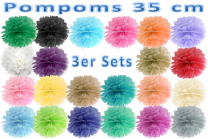 Pompoms 35 cm, 3er Sets