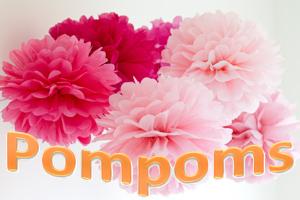 Hochzeitsdekoration mit Pompoms