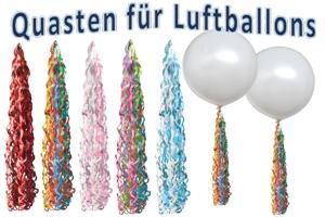 Quasten für Luftballons