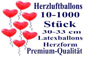 Rote Herzluftballons, Premium, 30 cm