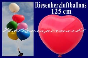 Riesenballons - Herzballons - Riesen-Herzluftballons 125 cm