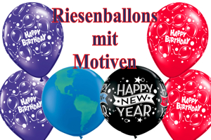 Große Luftballons mit Motiven