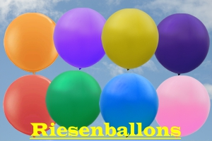 Riesen-Luftballons Rundformen und Herzformen, Riesenballons