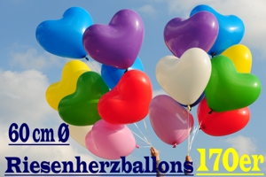 Riesenballons Herz 170 cm