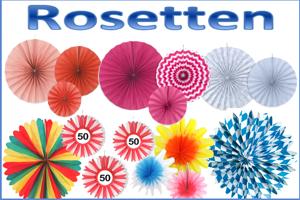 Rosetten Partydekoration