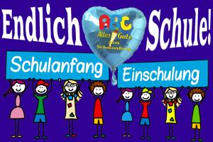Luftballons, Dekoration und Tischdekoration zu Schulanfang, Einschulung, Schulbeginn, zum 1. Schultag