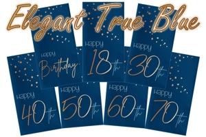 Elegant True Blue, Servietten zum Geburtstag