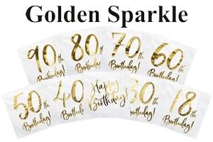 Golden Sparkle, Servietten zum Geburtstag
