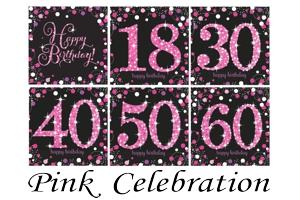 Pink Celebration, Servietten zum Geburtstag