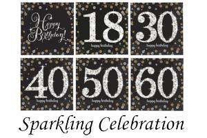 Sparkling Celebration, Servietten zum Geburtstag