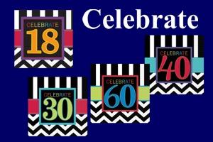 Celebrate, Servietten zum Geburtstag mit Zahlen