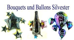 Silvester Bouquets und Ballons