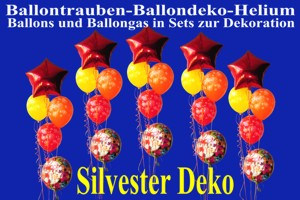 Silvester-Luftballons-Happy-New-Year-Helium-Sets