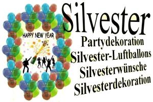 Silvester - Dekoration und Luftballons