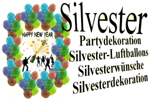 Silvester, Neujahr, Luftballons, Silvesterdekoration