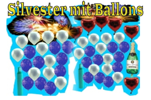 Silvester mit Ballons