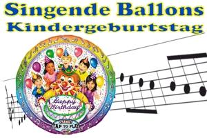 Singende Luftballons zum Kindergeburtstag
