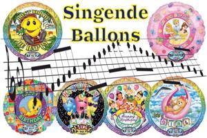 Singende Ballons, Musikballons, Versand-Optimiert