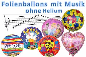 Singende Ballons, Musikballons ohne Helium