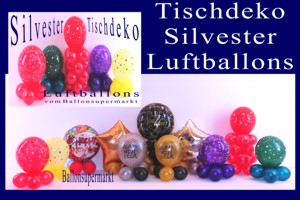 Tischdekoration Luftballons Silvester
