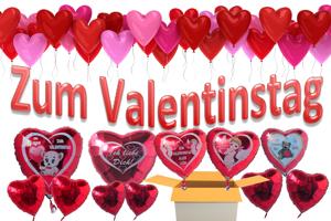 Valentin, Valentinstag: Dekoration, Luftballons, Liebesgrüße, Herzliches