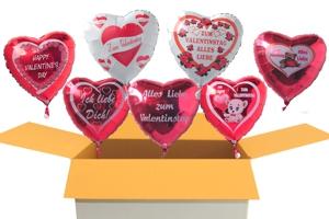 Helium-Luftballons aus Folie zu Liebe und Valentinstag inklusive Helium