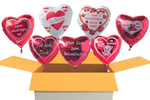 Valentinsgrüße im Karton