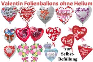 Valentinstag Folienballons (ungefüllt)