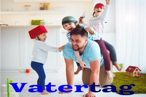 zum Vatertag: Luftballons und Dekoration