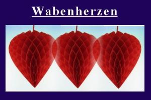 Wabenherzen Rot