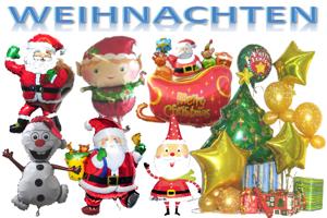Weihnachten, Weihnachtsdekoration, Weihnachtsgeschenke, Weihnachts-Luftballons