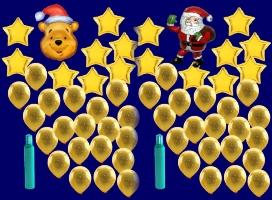 Weihnachten mit Luftballons