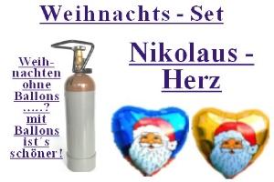"""Weihnachts-Set """"Nikolaus Herz"""""""