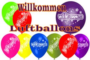 Luftballons Willkommen