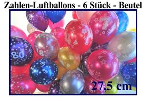 Latexballons 27,5cm im Beutel á 6 Stück