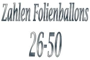 Folienballons Zahlen 26-50