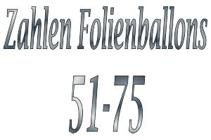Folienballons Zahlen 51-75