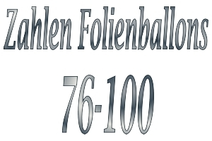 Folienballons Zahlen 76-100