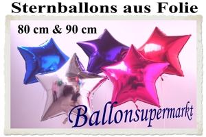 Folienballons Sterne 80 cm & 90 cm