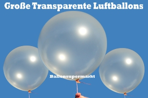 Große Luftballons, Transparent