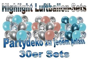 30er Luftballon-Sets, Highlight, Deko-Sets zu vielen Anlässen