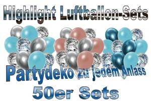 50er Luftballon-Sets, Highlight, Deko-Sets zu vielen Anlässen