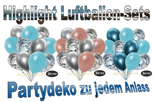 Luftballon-Sets, Highlight, Deko-Sets zu vielen Anlässen