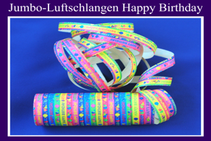Luftschlangen Jumbo, Happy Birthday