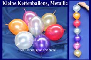 Kleine Kettenballons, Mini-Girlandenballons, Metallic