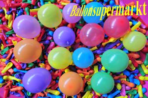 "Luftballons, Rundballons 8 cm, 3"", Wasserbomben"