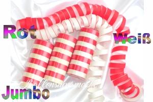 Luftschlangen Jumbo, Rot-Weiß